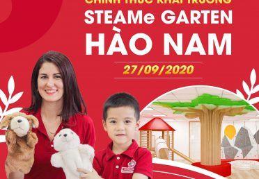 STEAMe GARTEN HÀO NAM CHÍNH THỨC KHAI TRƯƠNG VÀO 27/9/2020