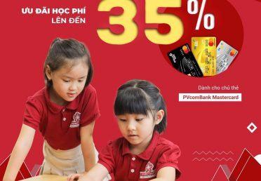 STEAMe GARTEN ƯU ĐÃI HỌC PHÍ LÊN ĐẾN 35% THANH TOÁN QUA THẺ PVCOMBANK
